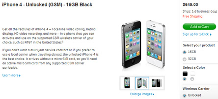 USA'den iPhone 4 Unlocked Alma Zamanı