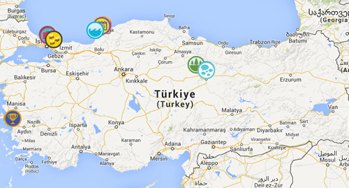 4sqmap - Rozet Haritası